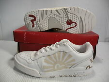 EVISU MUTHAS SUN LOW SNEAKERS MEN/WOMEN SHOES WHITE EV-116080 SIZE 7 8.5 NEW