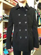 H&M Mantel Kurzmantel schwarz Wollmantel Gr 36 Herbst Winter 1A Zustand