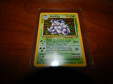 First Edition Nidoking Pokemon Trading Card 11/102* Mint Condition Foil Stage 2