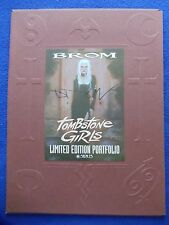 ~~ BROM ~ TOMBSTONE GIRLS LIMITED EDITION  PORTFOLIO #927/1500 SIGNED! ~1997 ~~