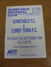 23/09/1989 Dunstable v Corby Town  (Excellent Condition)
