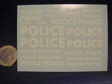 """DECALS 1/43 GRANDES ÉCRITURES  """" POLICE """" - T308"""