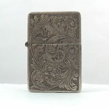 Antique 800 Silver Italy Hand Made Carved Ornate Cigarette Lighter