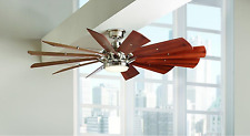"""60"""" Large Modern LED CEILING FAN + REMOTE, Country Light Kit Quiet Cabin Lodge"""