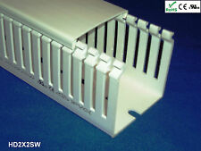 "12 New 2""x2""x2m High Density Thin Slot White Wire Ducts/Cable Raceway with Cover"