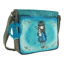 Santoro Hush Little Bunny Handbag – Shoulder – Blue – Girls – Womens - Gorjuss