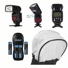 PRO TTL DEDICATED FLASH + CHARGER + DIFFUSER KIT FOR CANON EOS REBEL 1100D T5 T3
