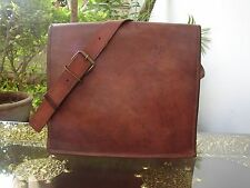 New Genuine Goat Leather Men Laptop Shoulder Bag Messenger Vintage Briefcase Bag