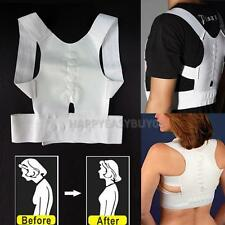 Adjustable Magnetic Posture Back Shoulder Corrector Support Belt Therapy Hot