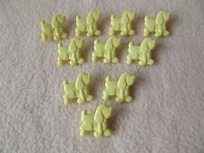 10 x LEMON DOG (Poodle) BUTTONS ~ Size 18mm x 20mm CHILDREN/CRAFT
