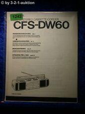 Sony Bedienungsanleitung CFS DW60 Cassette Corder (#1242)