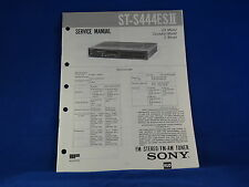Sony ST-S444ESII Stereo Tuner Service Manual