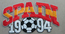 SPAIN COLLECTABLE RARE VINTAGE PATCH EMBROIDED 1994 OLYMPIC SOCCER WORLD CUP
