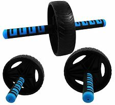 Senshi Japan Triple Wheel Ab Roller Exercise Wheel Strength Core Exerciser Gym