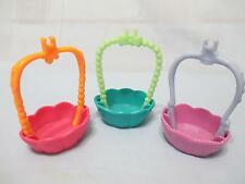 Littlest Pet Shop LOT of 3 Pcs ROUND N ROUND TOWN Swing Basket Replacement Parts