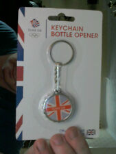 TEAM GB BRITISH FLAG KEY CHAIN & COCA COLA STYLED BOTTLE OPENER GREAT XMAS GIFT