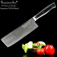 """Top Quality 7"""" Cleaver Chef Knife Damascus Steel Kitchen Knives Japanese Cook"""