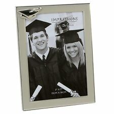 Silver Graduation Photo Frame with Hat Attachment FA53246