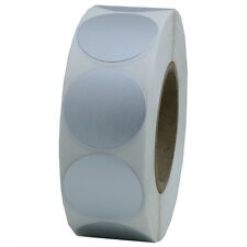 """Metallic Silver Labels 1"""" Round Color Coding Dots Stickers Total 1,000 Per Roll"""