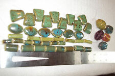Lot of Ceramic Beads, Focals, Fan, Tube, Ovals, Over 40 Large Beads