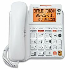 AT&T CL4940 Standard Phone - White - 1 x Phone Line - Answering Machine - Caller