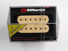 DiMarzio F-spaced Super Distortion Bridge Humbucker Creme W/Chrome Poles DP 100