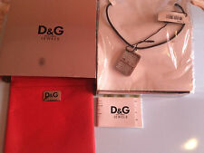 Authentic New dolce GabbanaD&G DJ0452 Dog Tag Pendant Gents Mesh Necklace