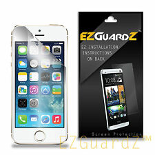5X EZguardz Clear Screen Protector Shield Skin 5X For Apple iPhone 5S