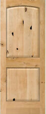 Authentic Knotty Alder 2 Panel Arch Top Solid Core Wood Doors 6'8H x 1-3/4 Thick