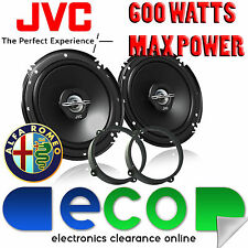 Alfa Romeo 147 00-14 JVC 16cm 6.5 Inch 600 Watts 2 Way Front Door Car Speakers