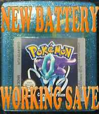 GENUINE POKEMON CRYSTAL VERSION *NEW BATTERY WORKING SAVE GAMEBOY GAME BOY COLOR