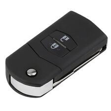 Folding Flip 2 Button Remote Key Fob Case Replace Shell fit for MAZDA 3 5 6 UR