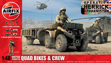 Airfix A04701 British Forces Quad Bikes and Crew Model Kits 1:48 Scale