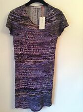 BNWT 100% Auth See By Chloe, Purple Bodycon Dress. UK 10 RRP £380