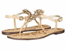 Sam Edelman Gene Womens Sandals Jeweled Detailing Naked Leather size 7.5 New