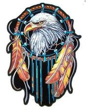 JUMBO EMBROIDERED DREAM CATCHER WITH EAGLE JBP065 6 INCHES sew iron back beads