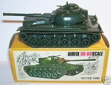 OLD AIRFIX CHAR TANK PATTON M48 HO OO MILITARY MILITAIRE 1970 REF 1653 IN BOX