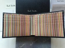 Paul Smith Signature Stripe Wallet - Black Leather -