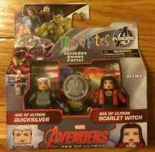 MARVEL MiniMates AGE OF ULTRON SCARLET WITCH & QUICKSILVER TRU EXCLUSIVE WAVE 61