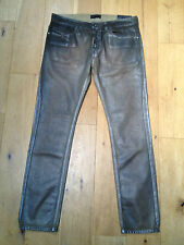 BNWT Diesel Black Gold Mens Gold Metallic Type 242 Slim Jeans @ Size 33 NEW