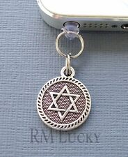 Star David Hand cell phone Charm Anti Dust proof Plug ear jack For iPhone C219