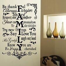 Be thankful Family Sticker Wall Quote Decal Removable Vinyl Art Mural Home Decor