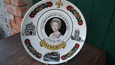 1980 Royal Visit by the Queen to Tamworth Plate made by Mercian Pottery Ltd Ed