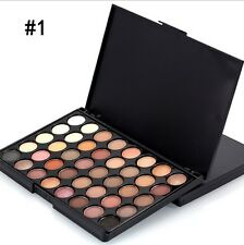 40 Colour Eye Shadow Makeup Cosmetic Shimmer Matte Eyeshadow Palette Set SGus
