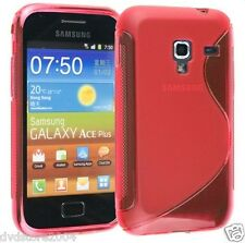 Pellicola + Custodia cover case WAVE ROSSA per Samsung Galaxy Ace plus S7500