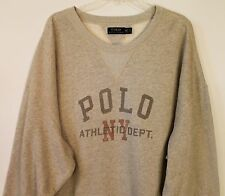 Polo Ralph Lauren Big and Tall Mens Gray Polo NY Athletic Sweatshirt NWT 4XLT