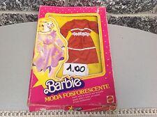 Vintage Abito Dress  Barbie Moda Fosforescente  Fluo Nib