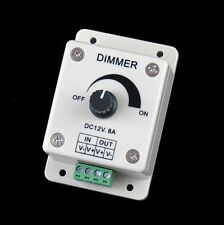DC 12V 8A LED Light Protect Strip Dimmer Adjustable Brightness Controller