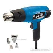 HEAVY DUTY SILVERLINE 2000W HOT AIR HEAT GUN PAINT WALLPAPER STRIPPER REMOVER