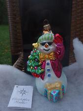 Christopher Radko Snow Cool Snowman Christmas Holiday X-mas Ornament NIB!